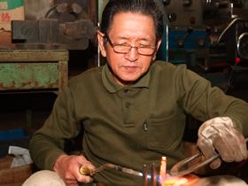 Kondo Masonry tools factory. Yoji Kondo is a brass brasing specialist.